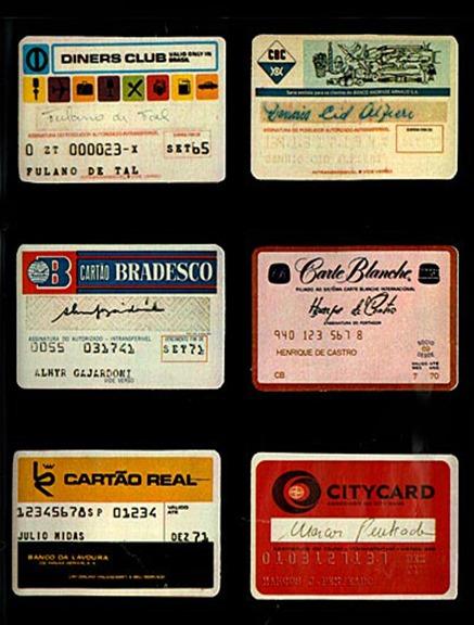 cartões de crédito - 1970