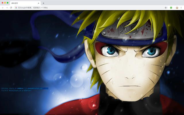 Naruto Uzumaki Pop HD Anime New Tab Theme