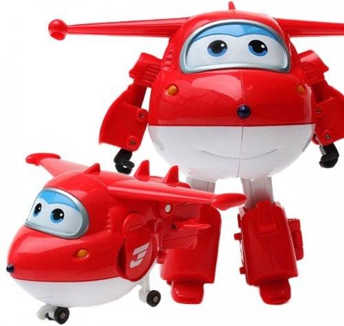 Đồ chơi Máy bay Jett Tia chớp biến hình Robot cỡ lớn Đội Bay Siêu Đẳng Super Wings