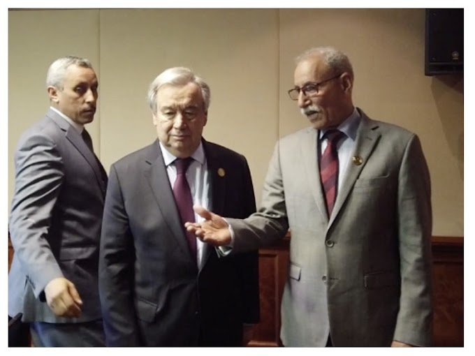 Guterres traslada al presidente saharaui el compromiso de la ONU con la resolución del conflicto en el Sáhara Occidental.