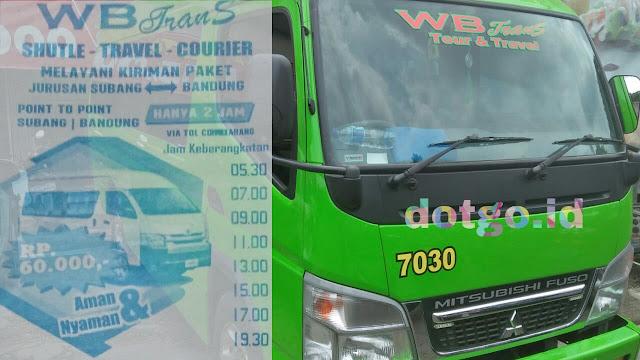 Wb trans subang Ongkos dan jadwal keberangkatan travel warga baru subang bandung