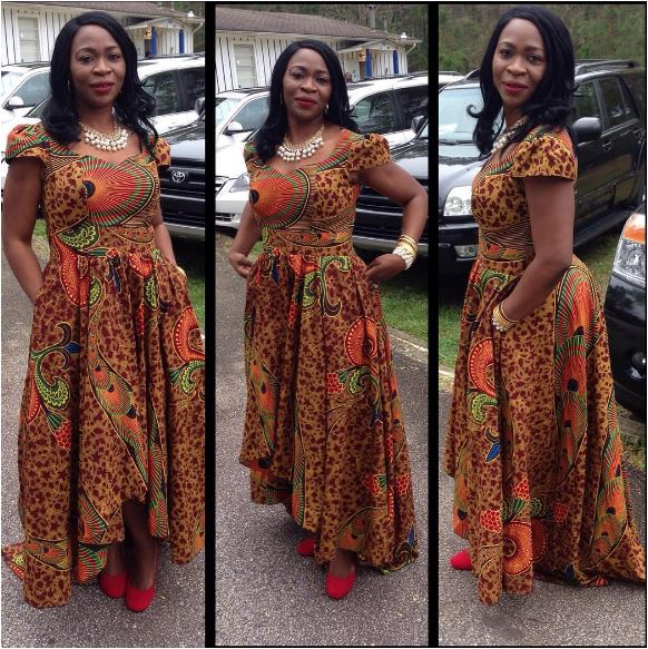 ANKARA LONG GOWN STYLES IN NIGERIA 2017 - Styles Art