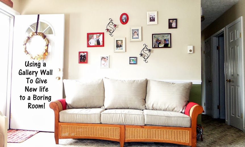 The easiest way to hang a photo gallery on wall. #gallerywall #photogallery #howtohang