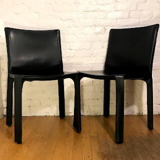 Cassina 412 Cab Chair Pair