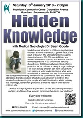 Hidden Knowledge 13 January 2018