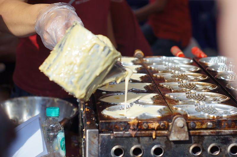 Taiyaki, adonan martabak dicetak bentuk ikan isi kacang