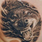 chest realistic - Wolf Tattoo