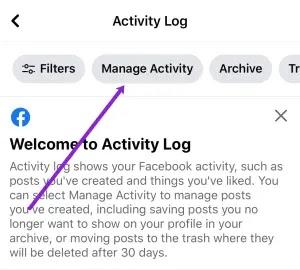 حذف منشورات الفيس بوك على الايفون