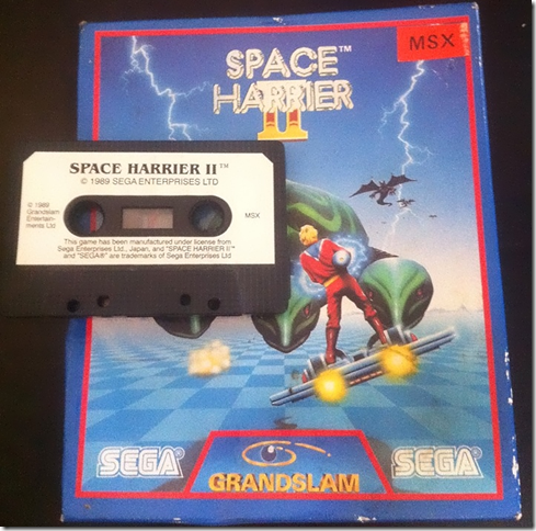 Space Harrier II (Grandslam, 1990) (Cover and tape)