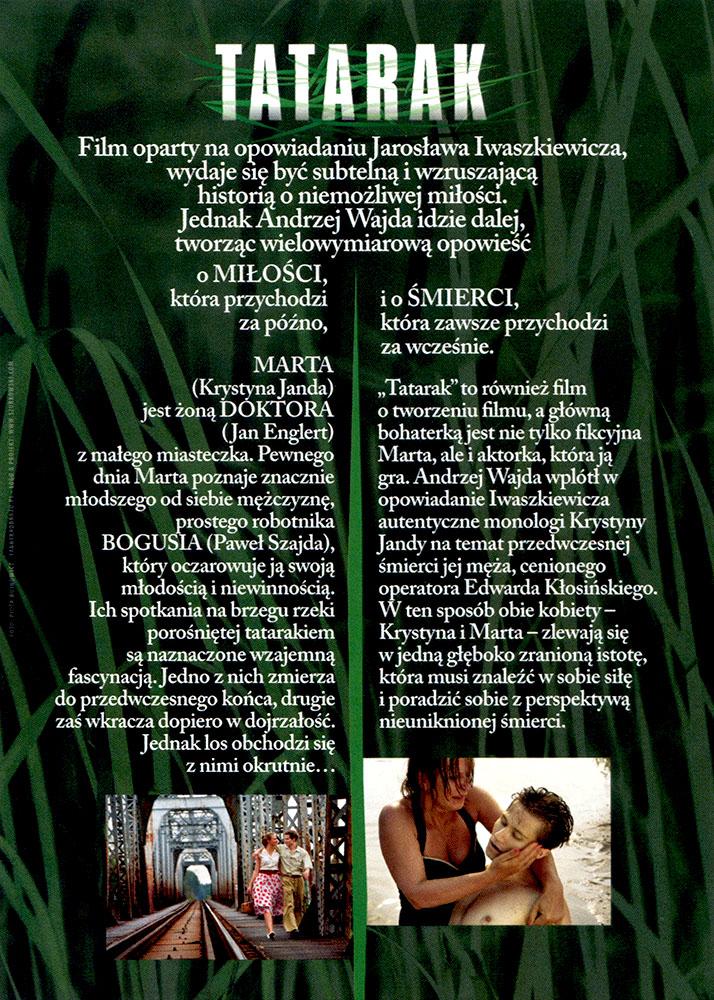 Ulotka filmu 'Tatarak (tył)'