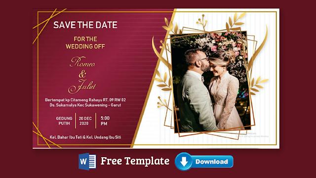 Download Undangan Pernikahan Microsoft Word Terbaru