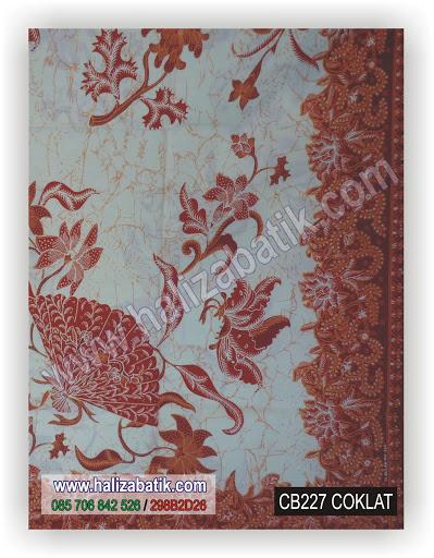 CB227%252520Coklat Model Kain Batik, Butik Batik Modern, Fashion Batik, CB227 Coklat
