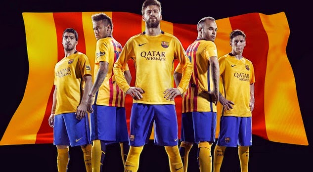Fc barcelona 2015 16 home away kits official released - New home barcelona ...