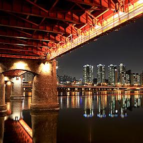 The Night Painting by Untung Subagyo - City,  Street & Park  Vistas