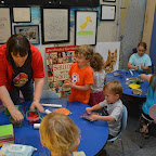 Author and illustrator Noelle Dingeldein leads a fun clay activity