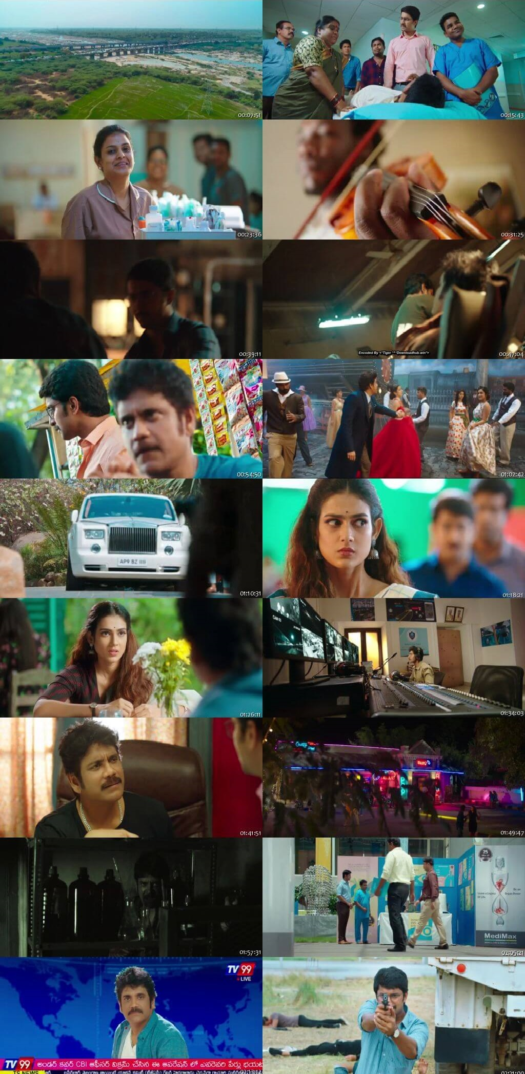 Screen Shot Of Tollywood Movie Devadas 2018 Full Movie In Hindi Dubbed Free download 720P HD