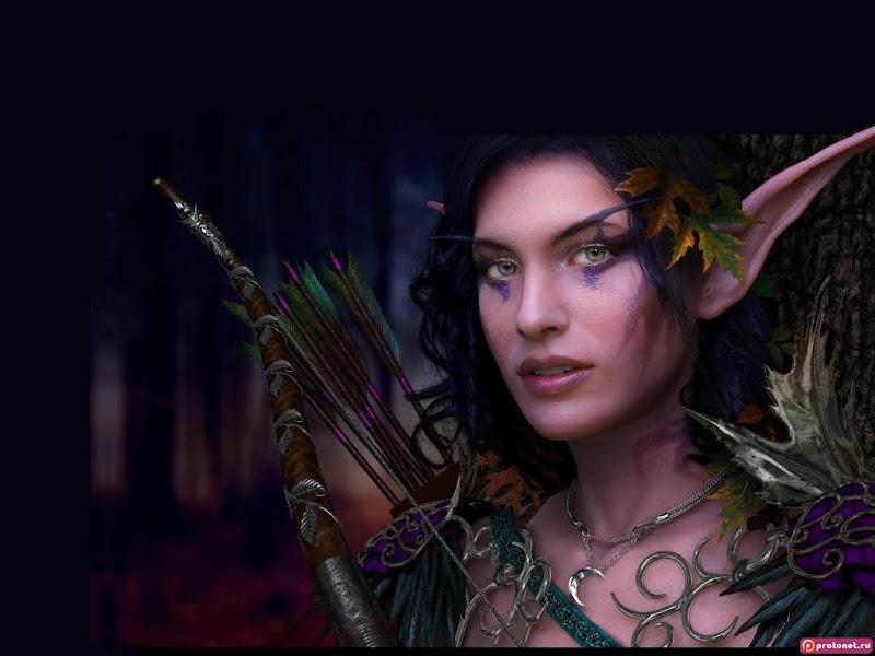 Elven Archer Of Autumn Forest, Elven Girls 2