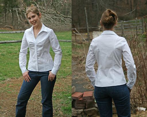 Vogue 8747: Blouse (Stretch cotton poplin)