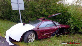 It was Rowan's second crash in the vehicle, which saw its 6.1 litre BMW engine flung 18m away from the rest of it.