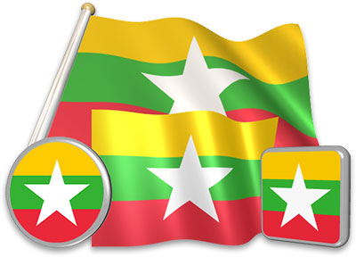 Burmese flag animated gif collection