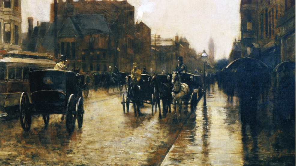 Childe Hassam - Columbus Avenue Rainy Day
