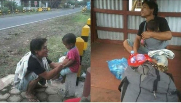 Hidup berkeluarga sudah pasti jadi idamaman setiap manusia Pria Ini Gendong Anaknya Diusir Mertua, Jalan Kaki Dari Madura Sampai Sumatera, Dan Istri Nikah Lagi.