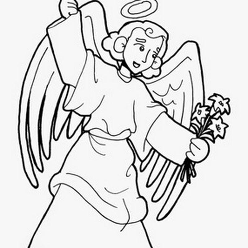 Colorear dibujos de San Gabriel Arcángel