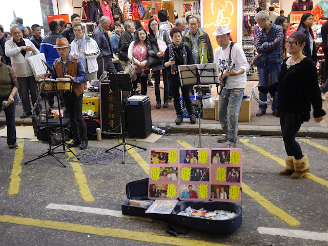 music performance at Sai Yeung Choi Street South