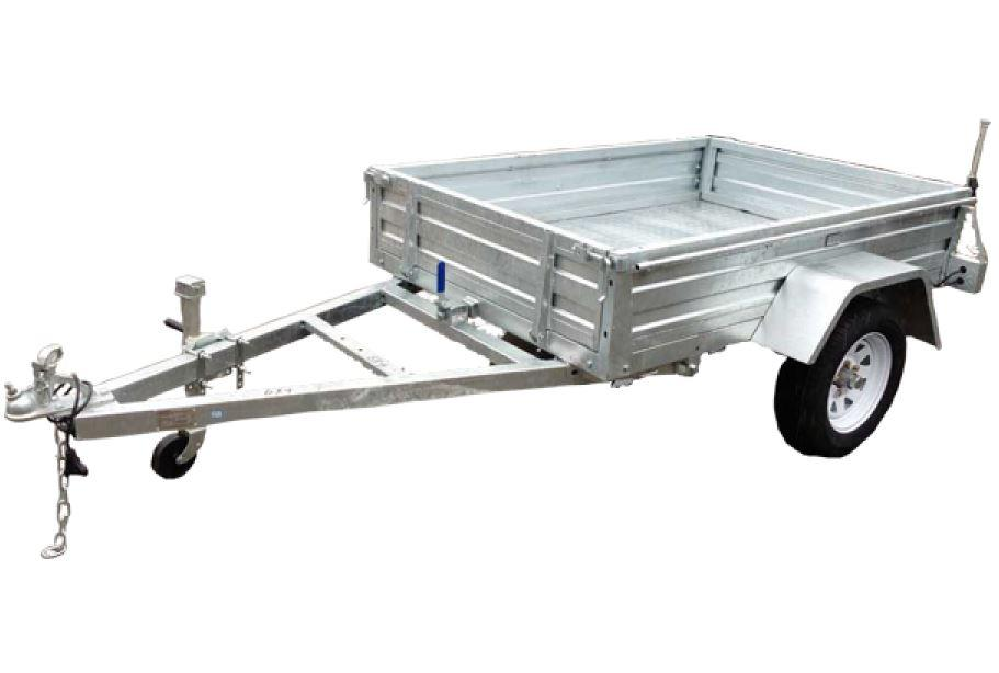 6 x 4 Galvanised Box Trailer For Sale Bolt On Sides
