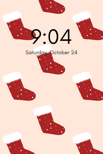 Christmas stocking phone wallpaper