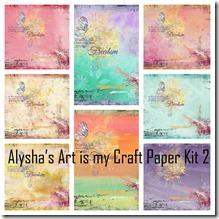 Alysha's Art is my Craft Paper Kit 2 Collage
