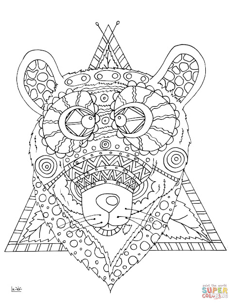 Bear With Tribal Pattern  Elephant Zentangle From Zentangle