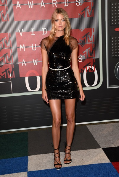 Martha Hunt attends the 2015 MTV Video Music Awards