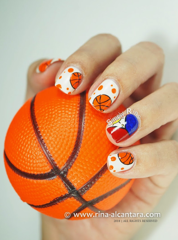 Gilas Pilipinas - Basketball Nail Art by Simply Rins