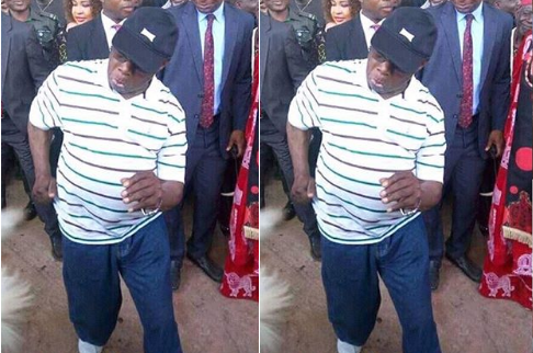 Checkout Obasanjo's Dance Moves At Ebonyi (Photos)