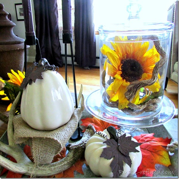 Using ceramic Pumpkins for fall decorating