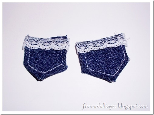 How to make jeans for a msd ball jointed doll.