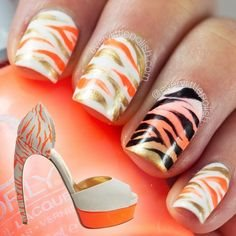 tiger stripe nail art designs for 2015
