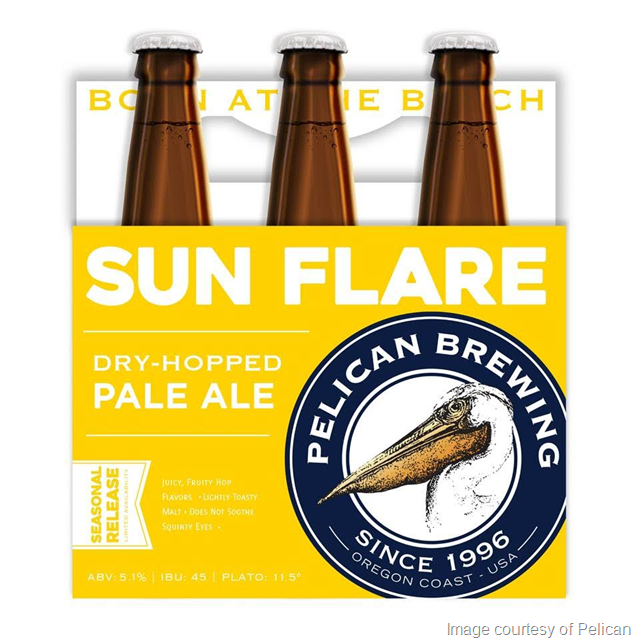 Pelican Brewing Sun Flare Dry-Hoped Pale Ale Returns