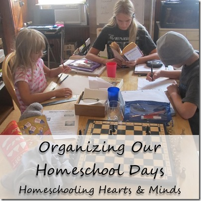 Organizing Our Homeschool Days with Multiple Kids at Homeschooling Hearts & Minds