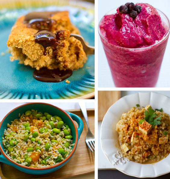 month vegan food round