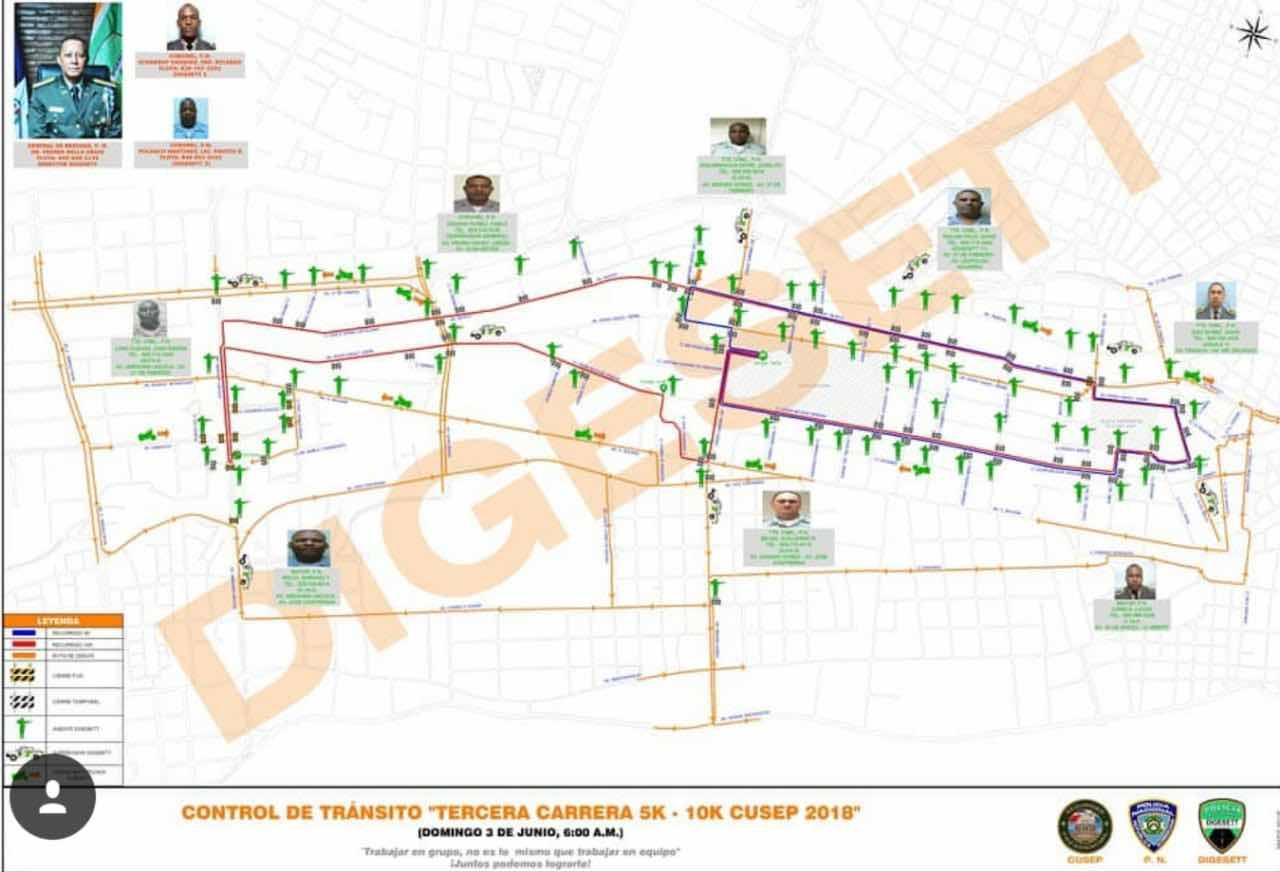 DIGESETT anuncia desvíos este domingo por maratón 5K y 10K del CUSEP; inicia y concluye en Teatro Nacional