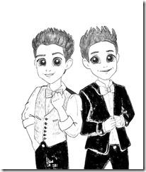 Mateo y Simón dibujo para colorear | Soy Luna dibujo para colorear