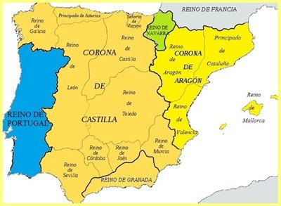 Antiguos Reinos España 1490