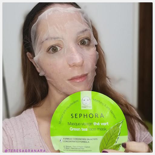 maschera viso al tè verde Sephora collection: la maschera viso mattificante e anti-imperfezioni teresagranara