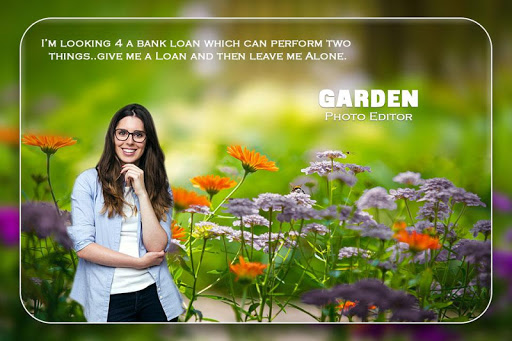 Garden Photo Frame app (apk) free download for Android/PC/Windows screenshot