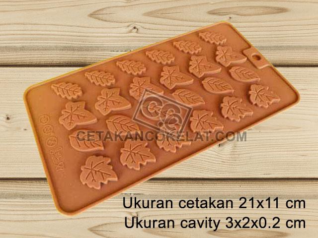 cetakan coklat cokelat silikon daun SIL080 SIL80