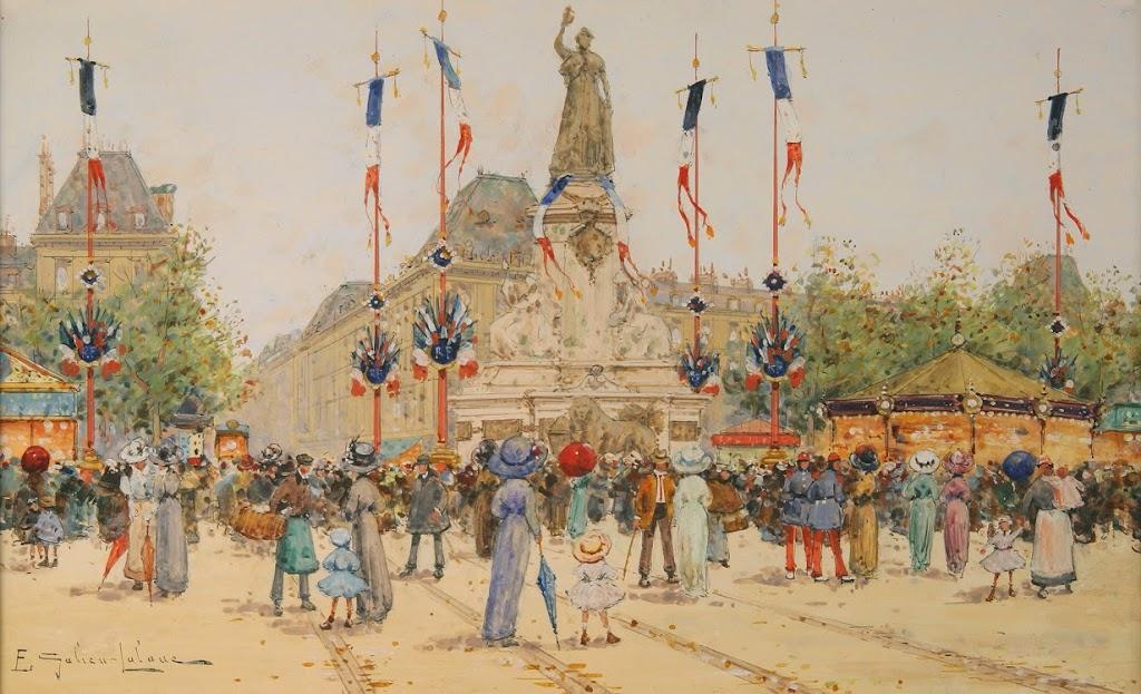Eugène Galien-Laloue - Un 14 Juillet, Place de la Republique