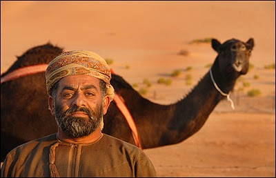 Oman - man with his camel