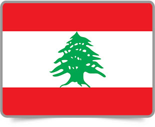 Lebanese framed flag icons with box shadow